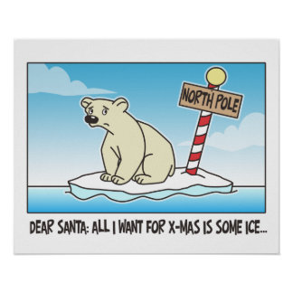 Christmas Polar Ice Poster