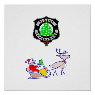 Christmas Police Gifts Posters