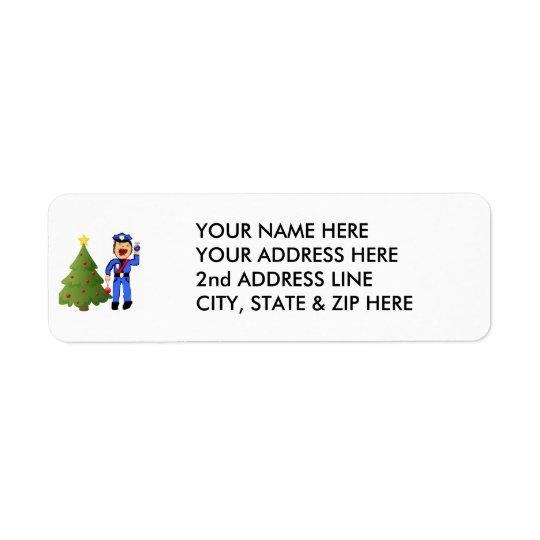 Christmas Policemen Return Address Label
