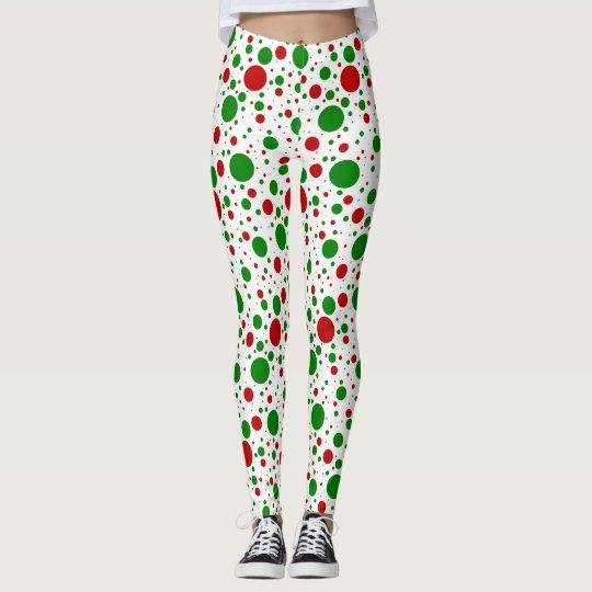 Christmas Polka Dots Leggings