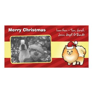 Christmas Pomeranian Custom Photo Card