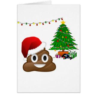christmas poo emoji greeting card