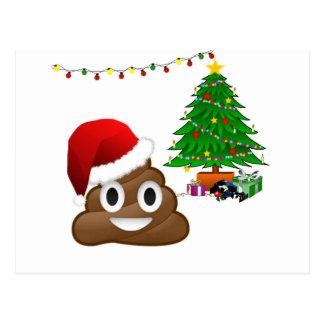 christmas poo emoji postcard