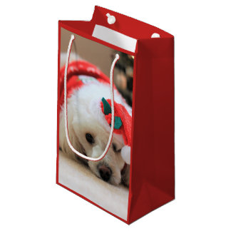 Christmas poodle dog gift bag