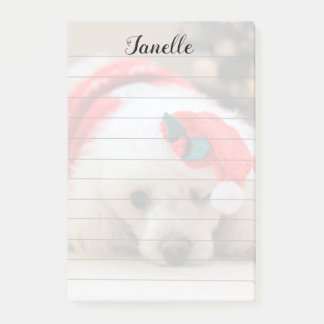 Christmas poodle post it notes pad