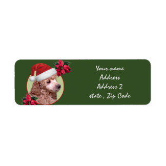 Christmas  Poodle puppy Address Labels