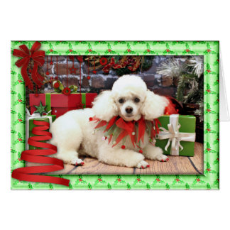 Christmas - Poodle - Sophie Card