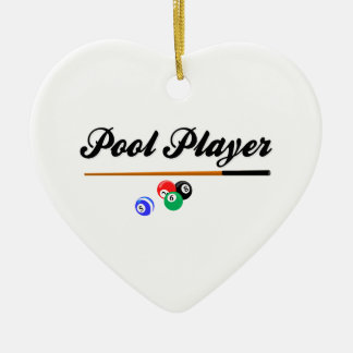 Christmas Pool Player Ceramic Ornament