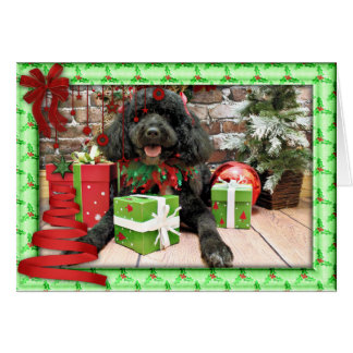 Christmas - Portuguese Water Dog - Lucy Card