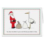 Christmas Pregnancy Announcement Cards - Sacks