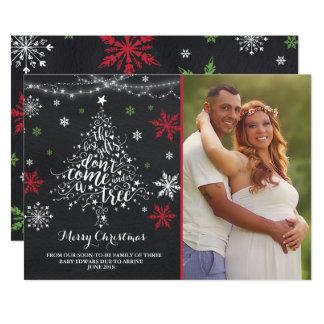 Christmas Pregnancy Announcement Christmas Photo