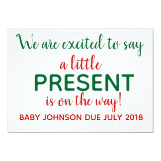 Christmas Pregnancy Announcement Reveal