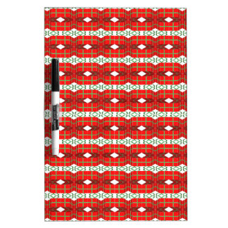 Christmas Present Plaid Dry Erase White Board