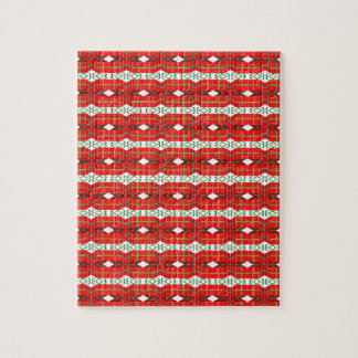 Christmas Present Plaid Jigsaw Puzzle