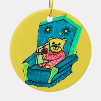 CHRISTMAS PRESENT TEDDYBEAR ornament