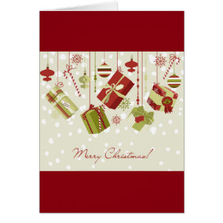 Christmas Presents and Baubles Card