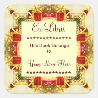 Christmas Presents Ex Libris Bookplate Stickers