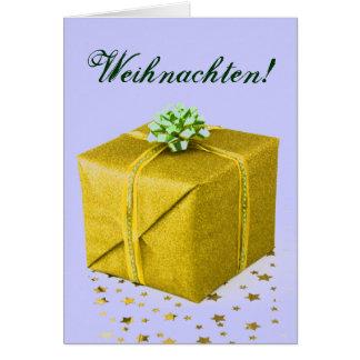 Christmas Presents Weihnachten Gold III Card