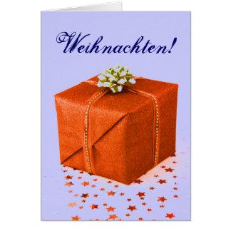 Christmas Presents Weihnachten Orange IV Card