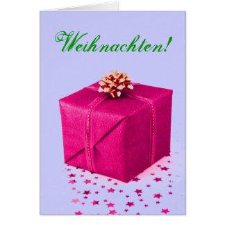 Christmas Presents Weihnachten Pink VI Card