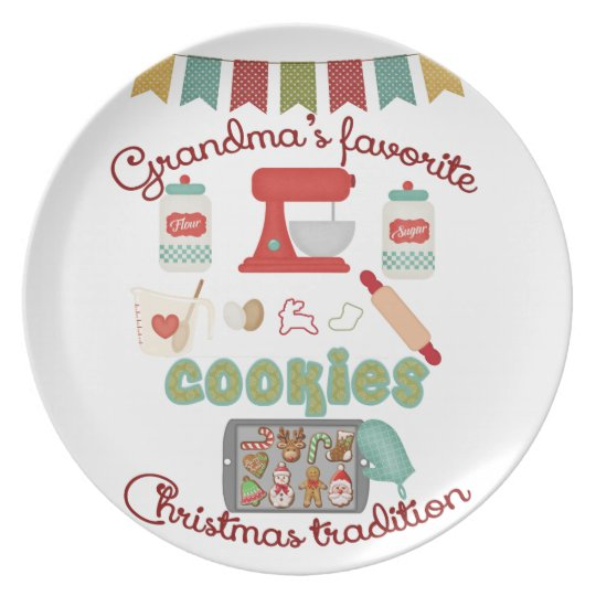 Christmas Products - Grandma's Favourite Christmas Plate