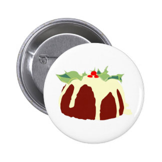 Christmas Pudding 6 Cm Round Badge