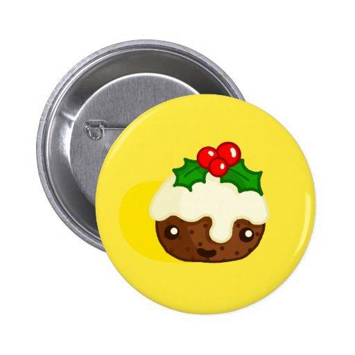 Christmas Pudding Pinback Buttons