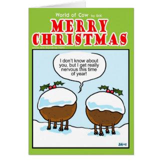 Christmas Pudding Cows Card