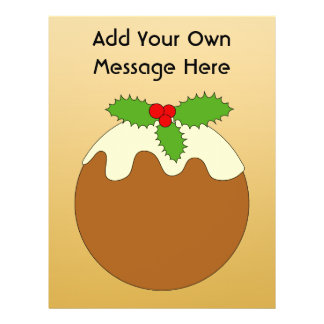 Christmas Pudding Gold color background Full Color Flyer