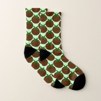 Christmas Pudding Patterned Socks 1