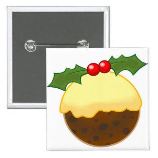 Christmas Pudding Pinback Button