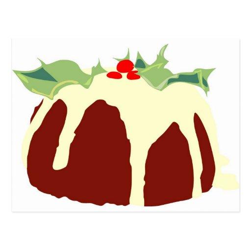 Christmas Pudding Post Card