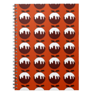 Christmas pudding red note book