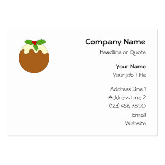 Christmas Pudding. White background. Business Card