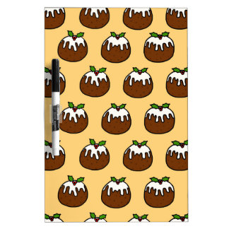 Christmas Puddings Dry Erase Board