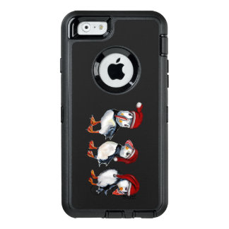 Christmas Puffins OtterBox Defender iPhone Case
