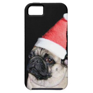 christmas pug iPhone 5 cases