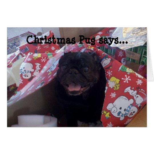 Christmas Pug Christmas Card