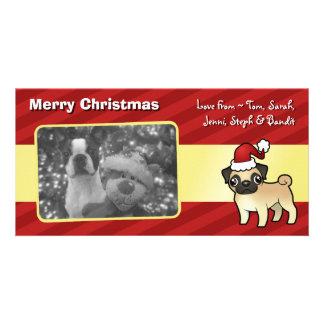 Christmas Pug Custom Photo Card