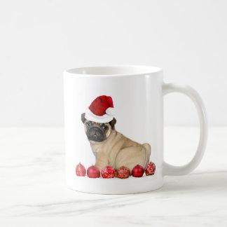 Christmas pug dog coffee mug