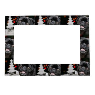 Christmas pug dog magnetic frame