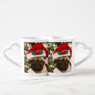 Christmas pug dog lovers mug sets