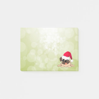 Christmas Pug Dog  Post-it® Notes 4 x 3