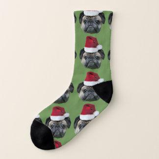 Christmas pug dog socks