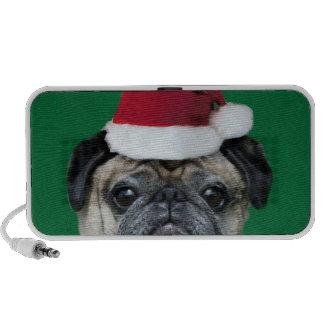 Christmas pug doodle speaker