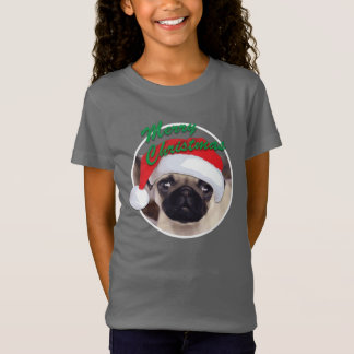 Christmas Pug Girls' Bella+Canvas Jersey T-Shirt