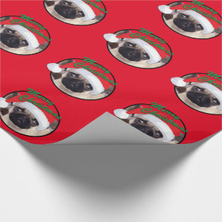 "Christmas Pug - Glossy Wrapping Paper, 30"" x 6' Wrapping Paper"