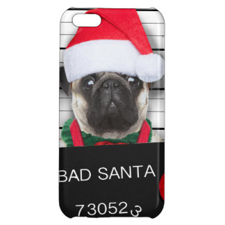 Christmas pug - mugshot dog - santa pug iPhone 5C cover
