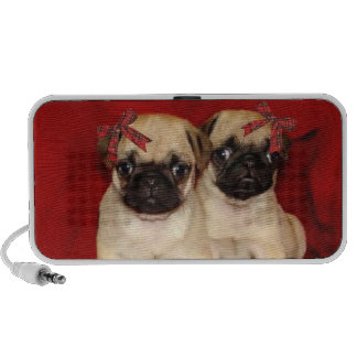 Christmas pug puppies portable speakers