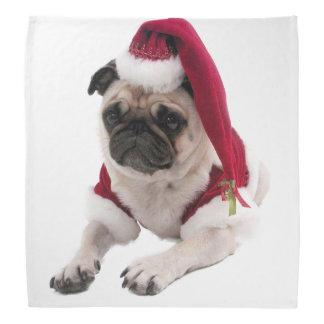 Christmas pug - santa claus dog - dog claus bandana